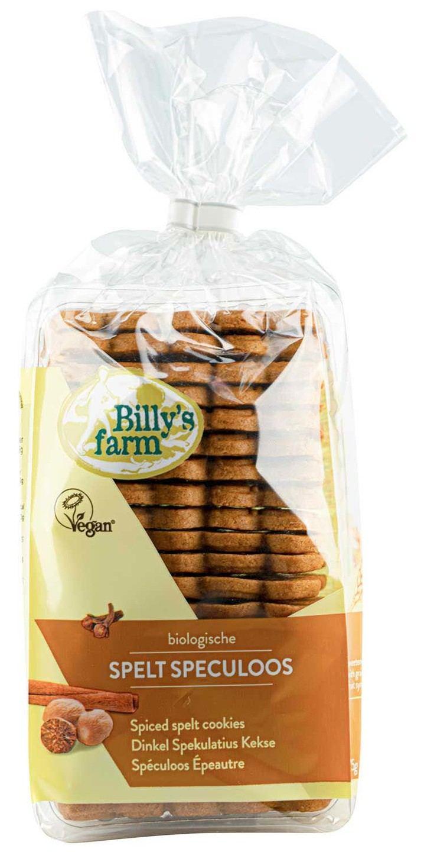 Biologische Billy's Farm Spelt speculaasjes 175 gr