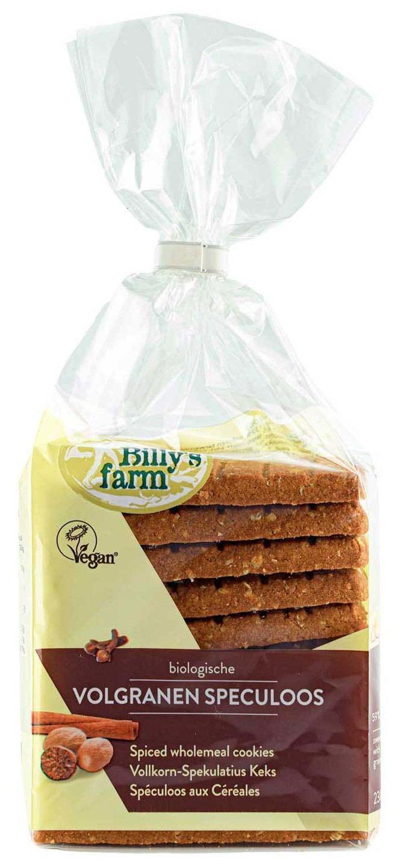 Biologische Billy's Farm Volgranenspeculoos 230 gr