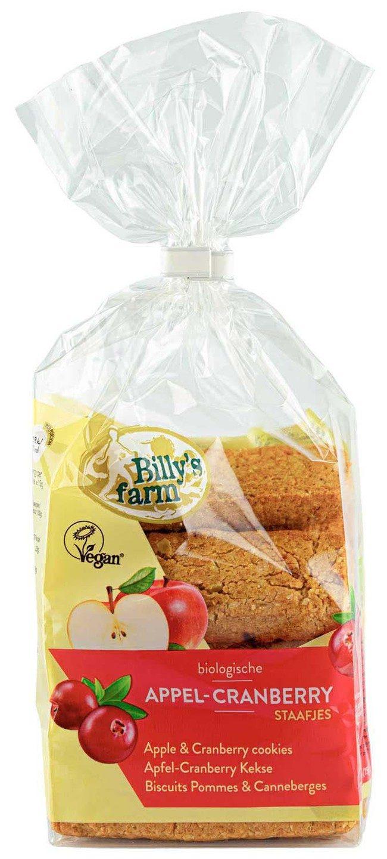 Biologische Billy's Farm Speltstaafjes appel-cranberry 175 gr