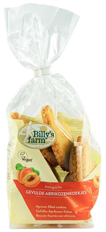 Biologische Billy's Farm Gevulde abrikozenkoekje 200 gr