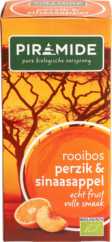 Biologische Piramide Rooibosthee perzik sinaasappel 20 builtjes