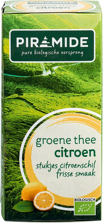 Biologische Piramide Groene thee citroen 20 builtjes