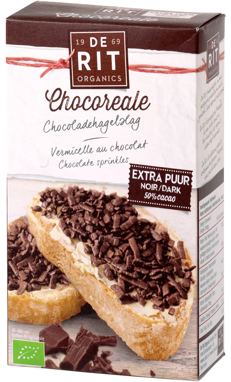 Biologische De Rit Chocoladehagelslag extra puur 50% 200 gr