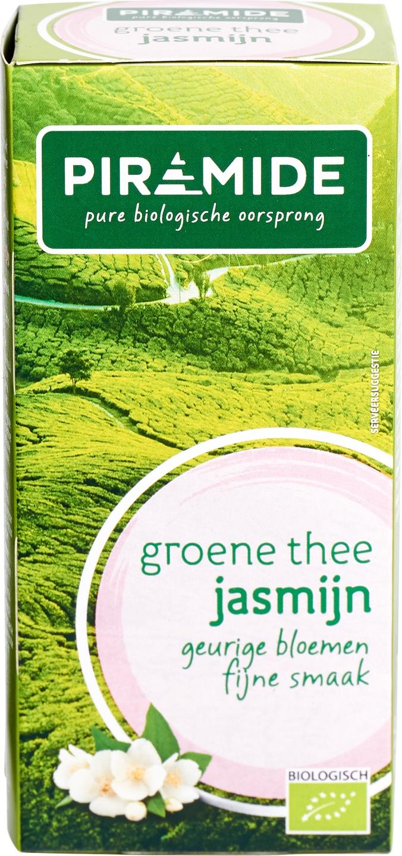Biologische Piramide Groene thee jasmijn 20 builtjes