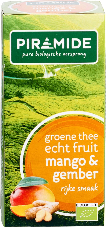 Biologische Piramide Groene thee mango gember 20 builtjes