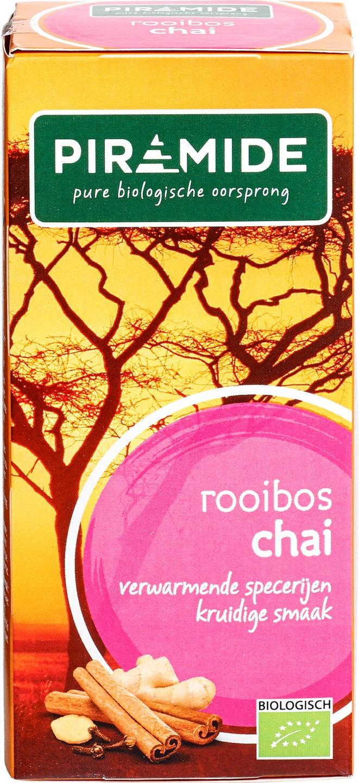 Biologische Piramide Rooibosthee chai 20 builtjes