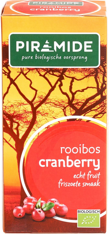 -20% SALE   Biologische Piramide Rooibosthee cranberry 20 st