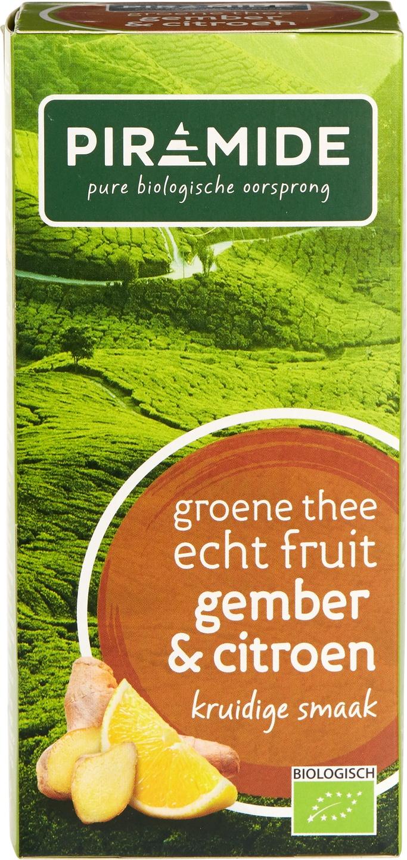 Biologische Piramide Groene thee gember citroen 20 builtjes