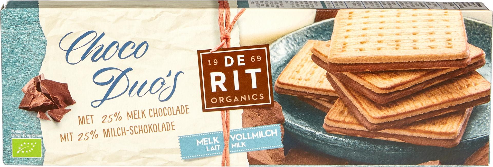 Biologische De Rit Sandwich biscuits melk 150 gr