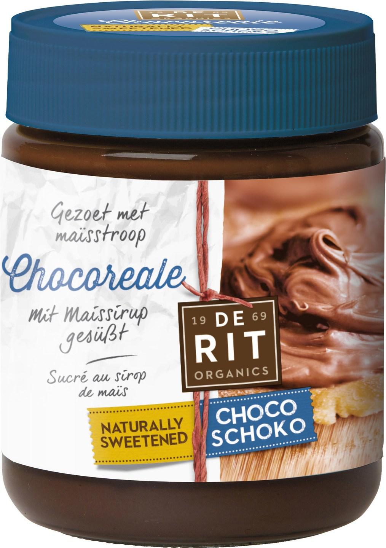 Biologische De Rit Chocoreale chocopasta natuurlijk gezoet 270 gr