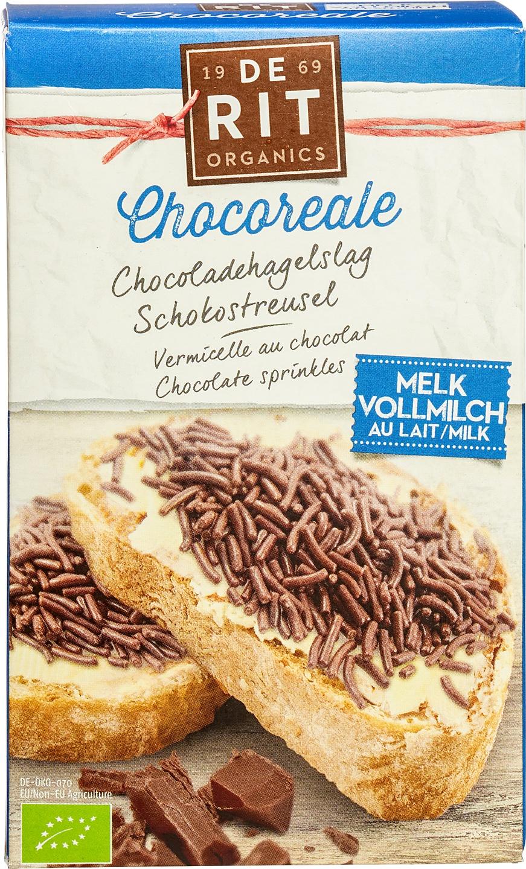 Biologische De Rit Chocoladehagelslag melk 225 gr