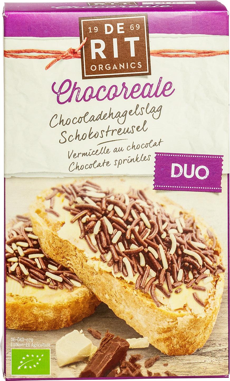 Biologische De Rit Chocoladehagelslag duo 225 gr