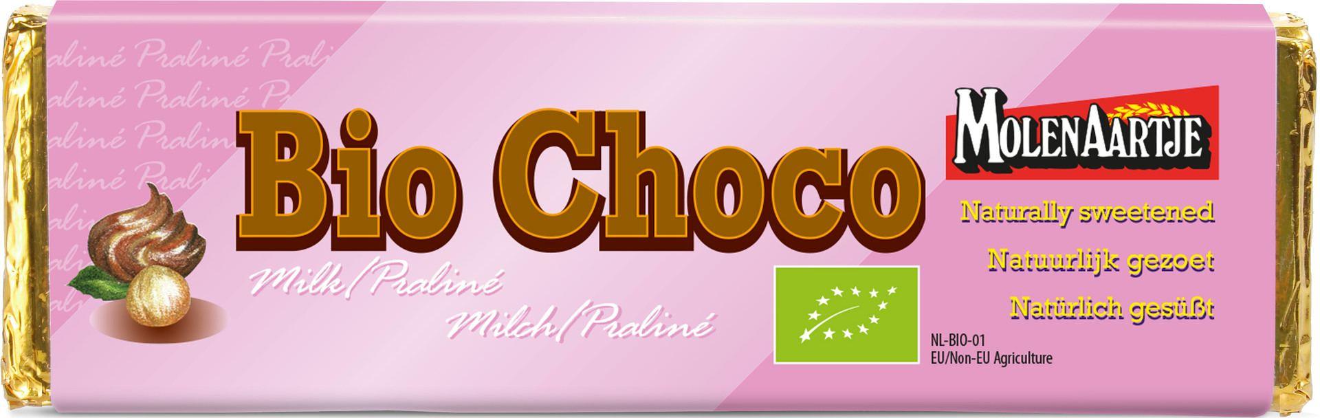 Biologische Molenaartje Melkchocolade - praliné 65 gr
