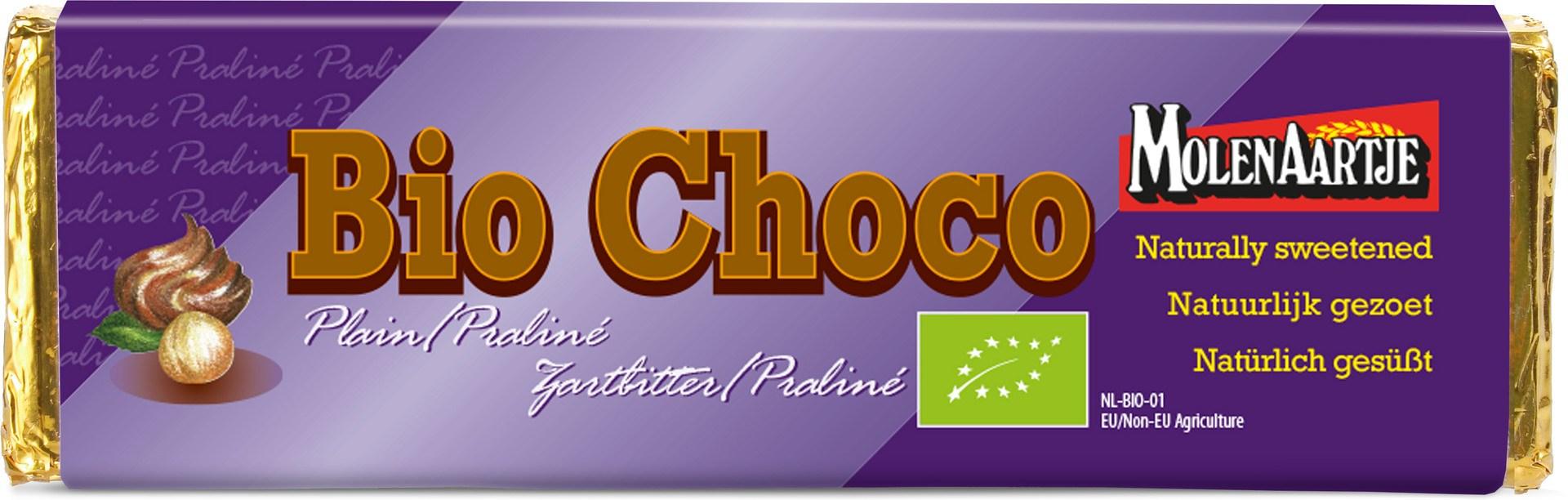 Biologische Molenaartje Pure chocolade - praliné 65 gr