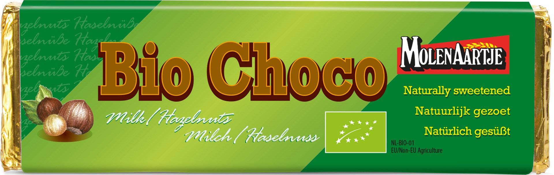 Biologische Molenaartje Melkchocolade - hazelnoot 65 gr