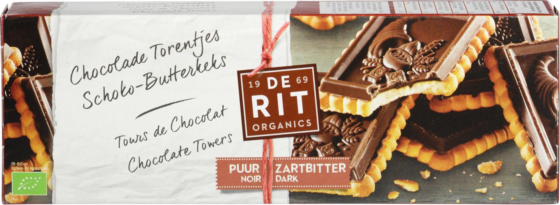 Biologische De Rit Chocolade torentje 150 gr