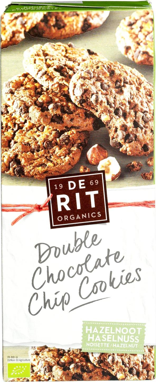 Biologische De Rit Double chocolate chip cookies hazelnoot 175 gr