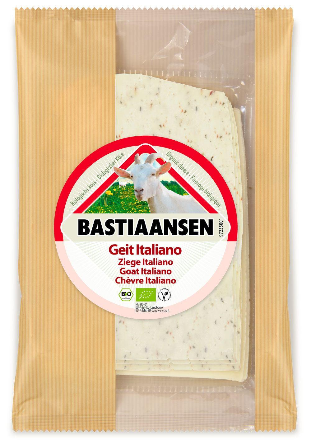-27% SALE | Biologische Bastiaansen Plakjes geitenkaas Italiano 50+ 150 gr