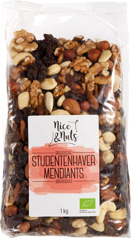 Biologische Nice&Nuts Studentenhaver 1000 gr