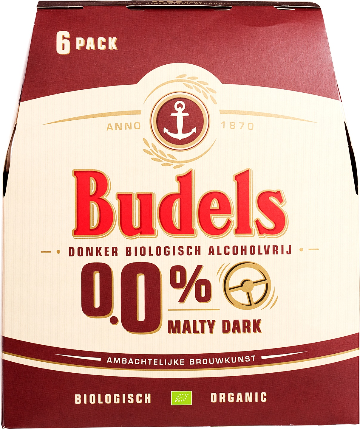 Biologische Budels Malty Dark 0,0% 6-pack 6 st