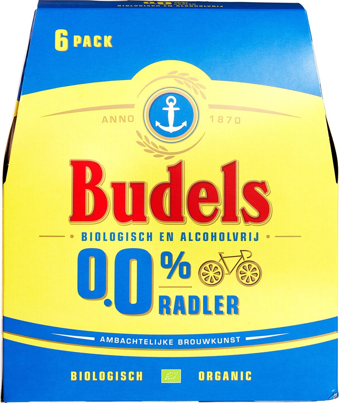 Biologische Budels Radler 0,0% 6-pack 6 st