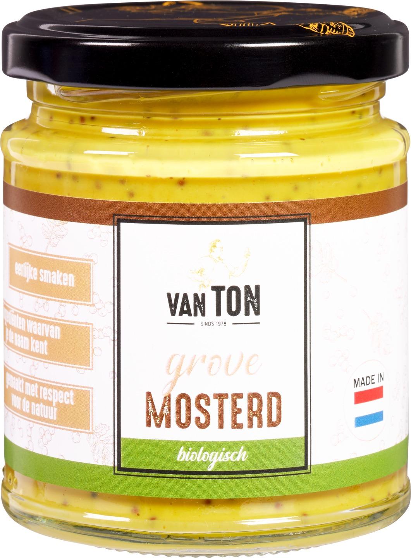 Biologische van TON Mosterd grof 170 gr