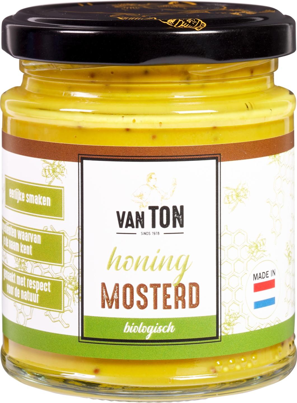 Biologische van TON Mosterd honing 170 gr