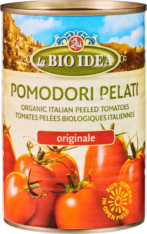 Biologische La Bio Idea Tomaten gepeld in blik 400 gr