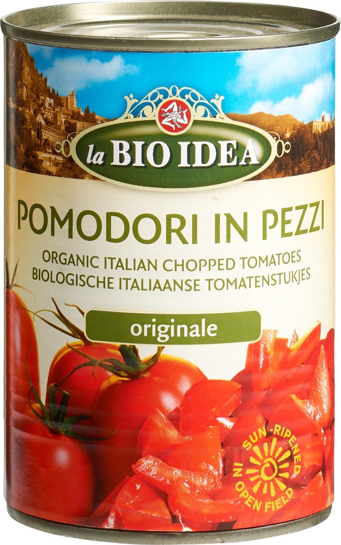 Biologische La Bio Idea Tomatenstukjes in blik 400 gr