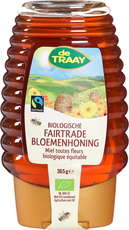 Biologische De Traay Fairtrade Biologische bloemenhoning 365 gr