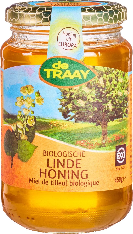 Biologische De Traay Lindehoning 450 gr