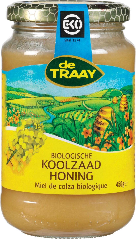 Biologische De Traay Koolzaadhoning 450 gr