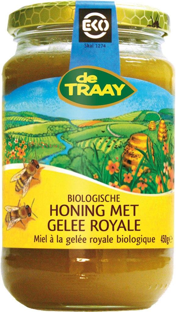 Biologische De Traay Honing met gelee royale 450 gr