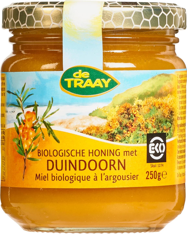 Biologische De Traay Honing met duindoorn 250 gr