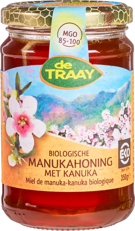 Biologische De Traay Manuka-Kanuka honing 350 gr