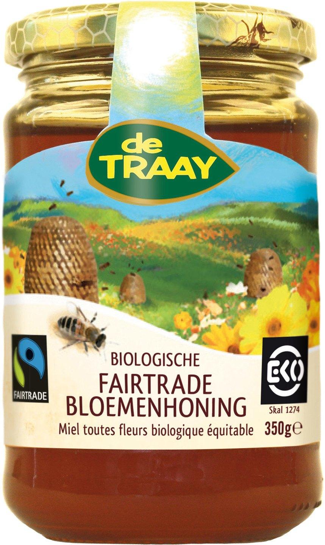 Biologische De Traay Fairtrade bloemenhoning 350 gr