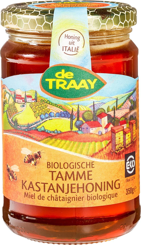 Biologische De Traay Tamme kastanjehoning 350 gr