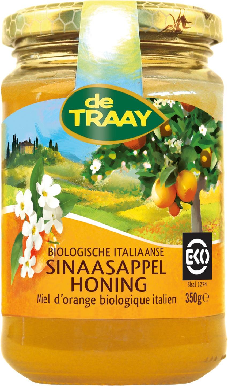 Biologische De Traay Italiaanse sinaasappelhoning 350 gr
