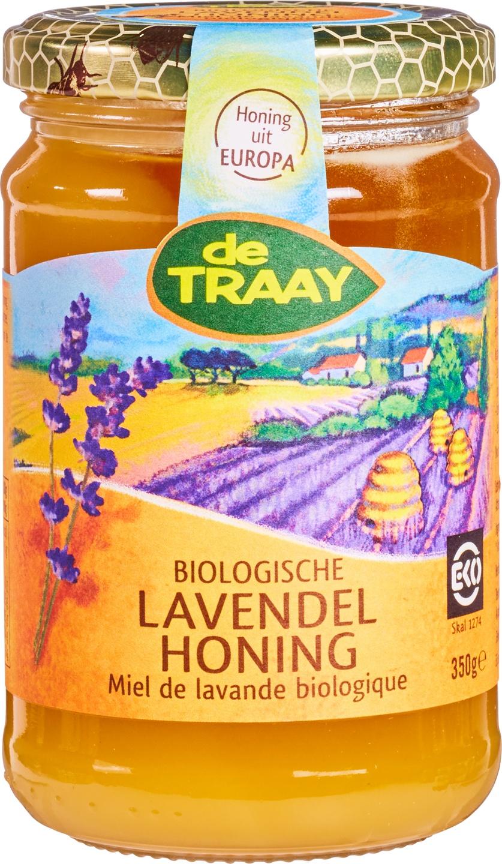 Biologische De Traay Lavendel honing 350 gr