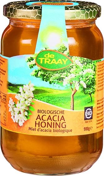 Biologische De Traay Acaciahoning 900 gr