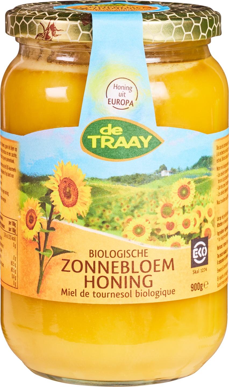 Biologische De Traay Zonnebloemhoning 900 gr