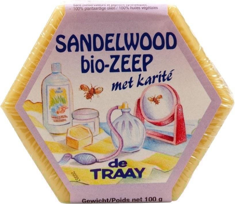 Biologische De Traay Zeepblok sandelwood 100 gr