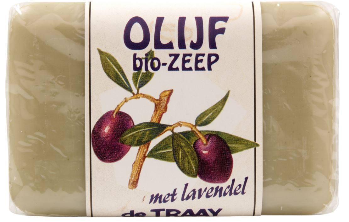 Biologische De Traay Olijf zeep met lavendel 250 gr