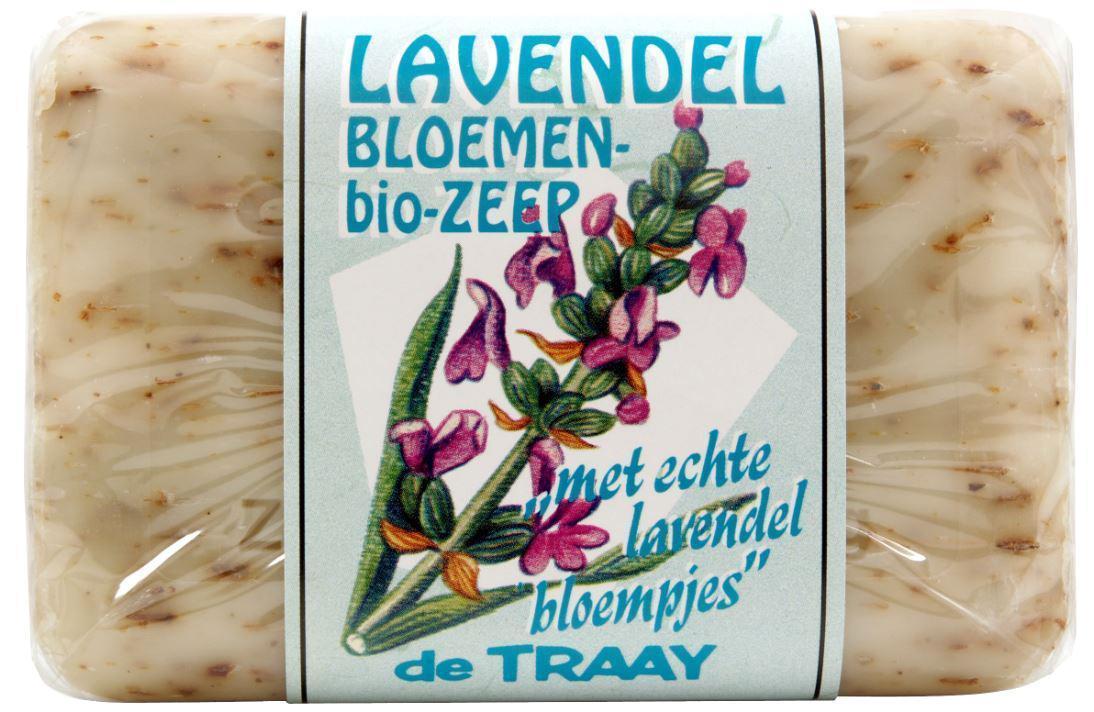 Biologische De Traay Lavendel bloemen zeep 250 gr