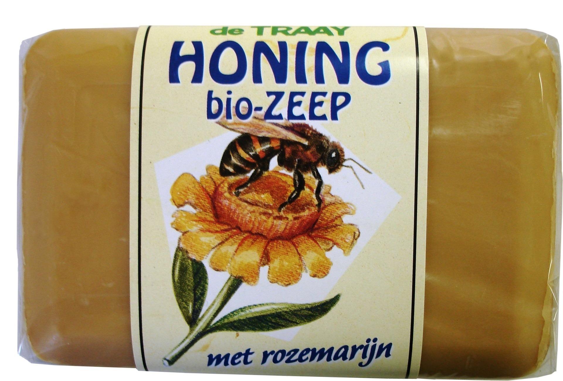 Biologische De Traay Zeep honing & rozemarijn 250 gr