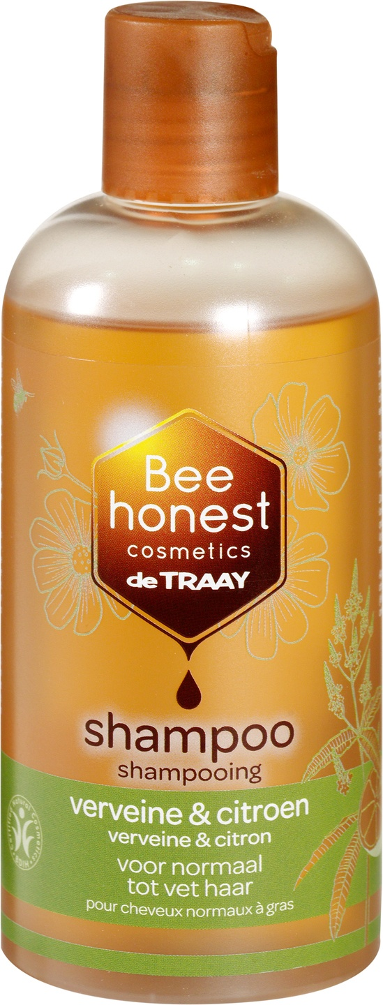 Biologische Bee honest cosmetics Shampoo verveine & citroen 250 ml