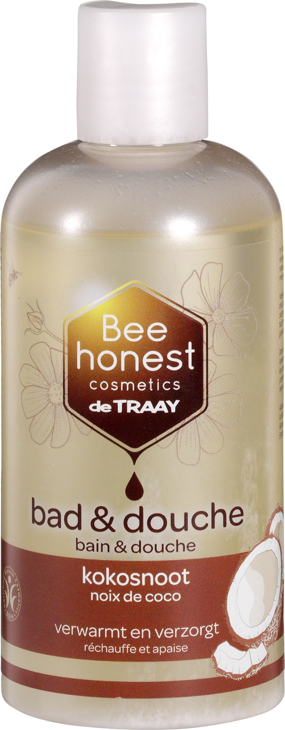Biologische Bee honest cosmetics Bad en douche kokosnoot 250 ml
