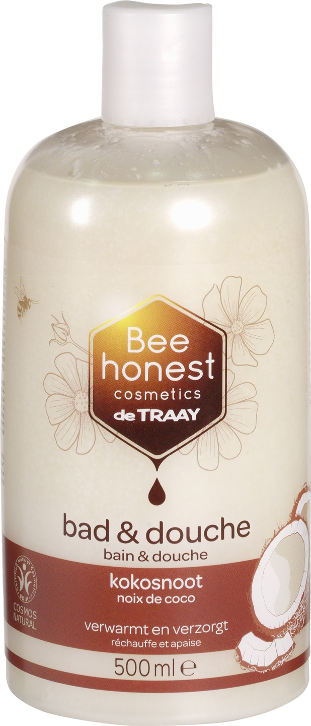 Biologische Bee honest cosmetics Bad en douche kokosnoot 500 ml
