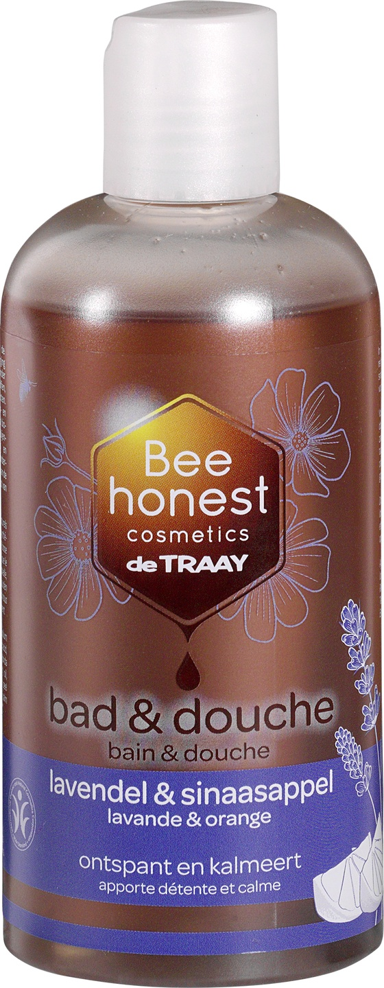 Biologische Bee honest cosmetics Bad en douche lavendel & sinaasappel 250 ml