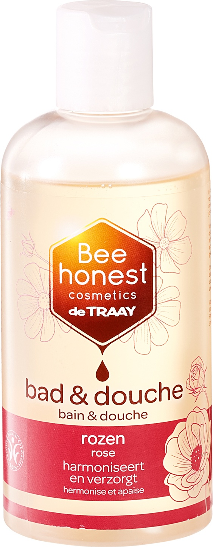 Biologische Bee honest cosmetics Bad en douche rozen 250 ml